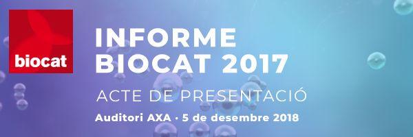 Presentació Informe Biocat 2017