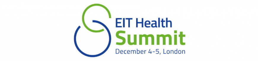 Banner del EIT HEalth Summit 2017 a London